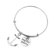 TraveT Anchor Compass Pendant Alloy Pendant Combination Bracelet Fashion Jewellery