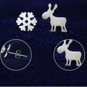 TraveT Little Deer Snowflake Earrings Fashion Jewellery For Women