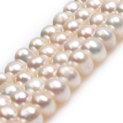 Rondelle Freshwater Cultured Pearls Heishi Spacer Beads for Jewellery Making Strand 15""