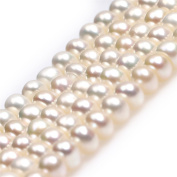 """Rondelle Freshwater Cultured Pearls Heishi Spacer Beads for Jewellery Making Strand 15"""""""