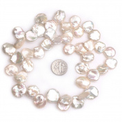 """Coin Freshwater Cultured Pearls Beads for Jewellery Making Strand 15"""""""