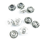 5 Pieces Antique Silver Tone Jewellery Making Charms Supply ZY2833 Tea Coffee Cup