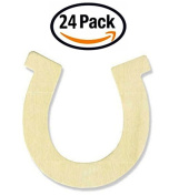 Creative Hobbies 8.9cm Unfinished Wooden Horseshoe Shapes, Pack of 24, Ready to Paint or Decorate