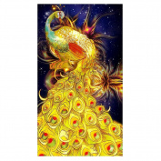 DIY 5D Diamond Painting Cross Stitch Kit Rhinestone Embroidery Golden Phoenix Room Decor