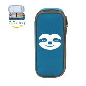 Fymanlu Sleepy Sloth Big Capacity Pencil Case Bag Portable Stylish Nylon Pen Cases