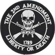"USA 2nd Amendment ""Liberty or Death"" 1789 Iron On 7.6cm Patch"