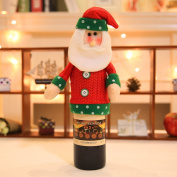 Zehui Cute Wine Bottle Cover Gift Bag Christmas Dinner Table Decoration Home Party Decor Christmas Bottle Champagne Bottle Cover Santa Claus