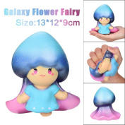 Stress Relieve Toy Galaxy Cute 13cm Flower Fairy Cream Scented Squishy Slow Rising Squeeze Toy