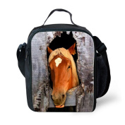 SANNOVO 3D Crazy Horse Print Insulated Picnic Bag Children Food Thermal Bag