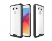 LG G6 Case, ARSUE Slim Transparent Shock-Absorption Bumper and Anti-Scratch Clear Back Protective Cover for LG G6 2017 - Black