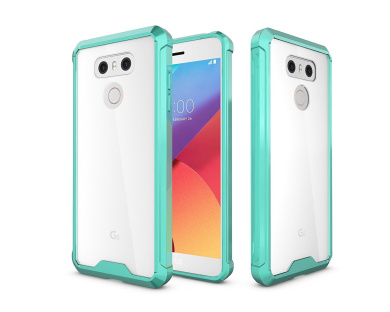 LG G6 Case, ARSUE Ultra Thin and Slim Hard Crystal Clear Transparent Scratch Resistant Premium Hybrid Protective Cover for LG G6 2017 - Mint