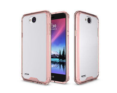 LG X Power 2 Case,LG Fiesta LTE Case,LG X Charge Case,LG K10 Power Case, ARSUE Slim Crystal Clear Transparent Scratch Resistant Premium Hybrid Drop Protection Protective Case for LG LV7 - Rose Gold