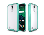 LG K10 2017 Case, LG K20 Plus Case, LG K20 V Case, LG LV5 Case, ARSUE Ultra Thin and Slim Hard Crystal Clear Transparent Scratch Resistant Hybrid Protective Cover for LG LV5 / K20 Plus - Mint