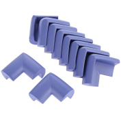 10pcs Angle Form Extra Thick Furniture Table Edge Protectors Foam Baby Safety Bumper Guard-Purple