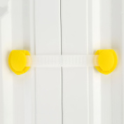 10Pcs Yellow Plastic 15.5cm Baby Child Kids Safety Protection Guard Refrigerator Cabinet Window Cupboard Toilet Drawer Door Security Lock-15.5cm