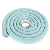 1Pc 2m U-Shape Baby Child Safety Corner Protector Table Edge Corner Cushion Strip-Light Blue