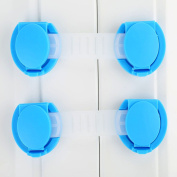 5Pcs Blue Plastic 10cm Baby Child Kids Safety Protection Guard Refrigerator Cabinet Window Cupboard Toilet Drawer Door Security Lock-10cm