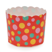 Welcome Home Brands MS8801 Red Dot Paper Baking Cup 150ml Volume, 5.8cm Diameter x 5.1cm High - Pack of 100