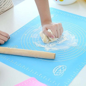 XHHOME Heat Resistant Food Grade Silicone Baking Mat, Non Stick Fondant Pastry Rolling Mats with Measurements, Large Size 50cm x 40cm