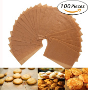 Parchment Paper Cookie Baking Sheets - 30cm x 41cm - Non-Stick Brown Unbleached - Safe for High Temperature Baking - Pack of 100