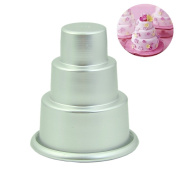 GaoCold cake mould DIY Mini 3-Tier Cupcake Pudding Chocolate Cake Mould Baking Pan Mould Party