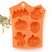 Creazy Happy Halloween Creative Silicone Pumpkin Cake Silicone Mould Kitchen Bake Tools