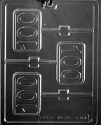 Number # 100 Chocolate Mould - L066 - Includes Melting & Chocolate Moulding Instructions