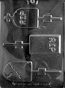 Headstones Lollipop Chocolate Mould - H119 - Includes Melting & Chocolate Moulding Instructions