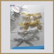 Cake pop sticks + clear bags + colourful ribbon bows