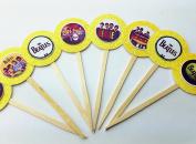 8 Beatles Cupcake Picks Birthday Music 70's I love the 60's Decor Party Supplies