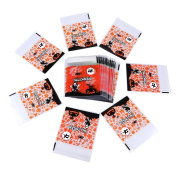 Halloween Cookie Bags, WCIC 100Pcs Plastic Self-adhesive Skeleton Candy Bags 10cm x 10cm