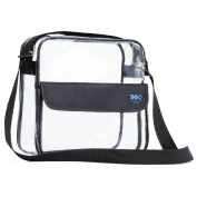 Clear Cross-Body Messenger Shoulder Bag, Available in 2 Sizes, PGA, MLB & NFL Stadium Approved Clear Purse