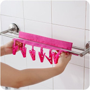 EQLEF® 2PCS Portable Washing Drying And Drying Air Travel To Peg, Hanging On The Clothesline With Six Clips