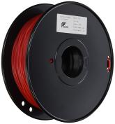 3D Prima TW-FLX300RE TPE Flexible Filament, 3 mm, 1 kg Spool, Red