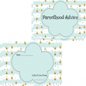 Baby Shower Parent Advice Cards 16 Guests Keepsake Game Activity Mint Raindrop