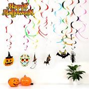 Georgie Porgy Halloween Home Decoration Bat Spider Witch Pumpkin Skull Ghost Party Ceiling Bar Decoration Home Decor