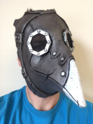 Steampunk Crow Mask, Overhead Latex, Day Of The Dead, Plague Doctor Bird