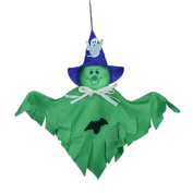 Janly® 2pcs Halloween Decoration Ghost Scary Props Garland Pumpkin Hanging Ghost Paper for Home Party Horror Props