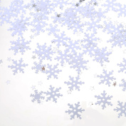 Sumind Snowflake Confetti for Christmas Winter Party Decoration Craft Projects, 60 g/ 60ml