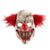 Scary Clown Mask Full Face Latex Horror For Halloween Evil Creepy Masquerade Party