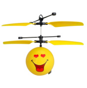 Induction Aircraft, Toamen Infrared Sensor Hand Induced Flight Emoji Flying Helicopter Balls RC Drone Toys