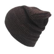 huichang Fashion Men Women Winter Warm Knit Crochet Ski Hat Braided Turban Headdress Cap