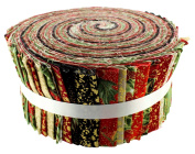 Fabric Freedom Merry Christmas Red Freedom Roll, Multicoloured