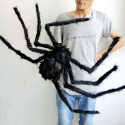 HAPPYQUDA Large Black Spider Halloween Decoration Haunted House Prop Indoor Outdoor Wide 30/75/125cm