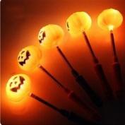 Vi.yo LED Pumpkin Shaking Glowing Stick Spring Flash Lamp Bar Halloween Flashing Blinking Costume Accessory Party Favour