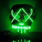 Halloween Masks,Woopower Luminous Mask Wire DJ Party Festival Halloween Costume LED Mask Halloween Props