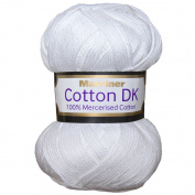 Marriner Mercerised 100% Cotton Double Knit | DK Yarn/Cotton | White