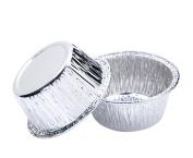 DaoRier 10Pcs Disposable Tinfoil Silver Paper Plate Aluminium Foil Trays for BBQ Bake Kitchen