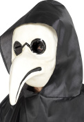 Smiffy's 45036 Authentic Plague Doctor Mask, White, One Size