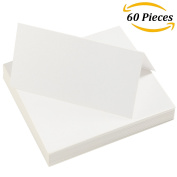 Aneco 60 Pieces White Blank Table Cards Name Place Cards for Wedding Party Decoration or Meeting Favour